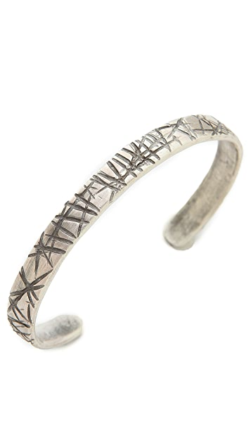 Cause and Effect Narrow Sterling Flat Cuff
