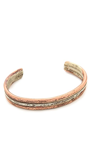 Cause and Effect Sterling & Copper Cuff