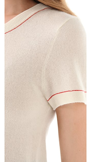 Chris Benz Cashmere Crew Neck Tee