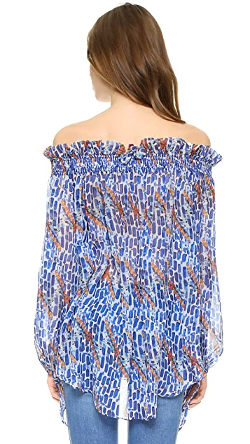 Caroline Constas Lou Off Shoulder Top