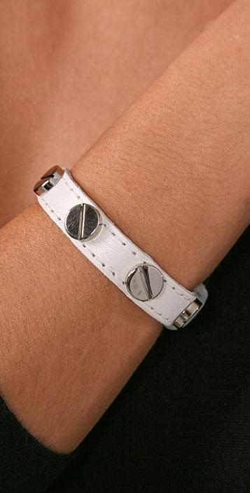 CC SKYE Leather Screw Bracelet