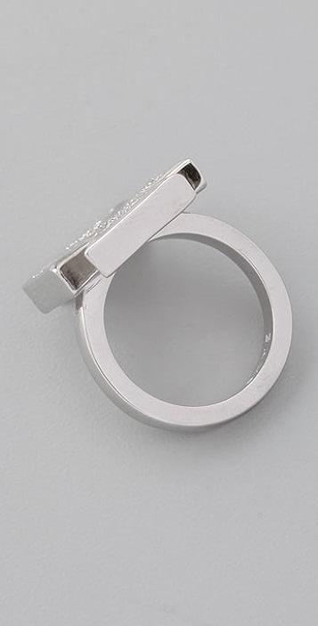 CC SKYE Pave Iron Cross Ring