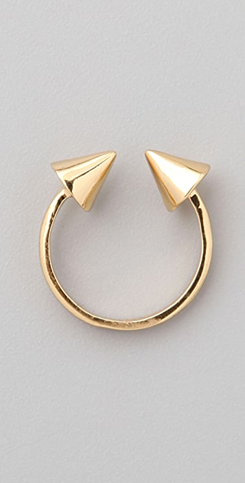 CC SKYE Gold Spike Double Header Ring