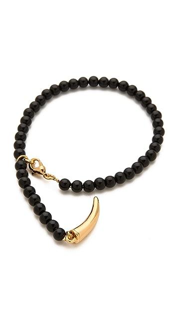 CC SKYE Lucky Horn Rosary Bracelet