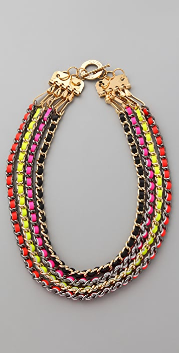 CC SKYE Neon Multi Chain Necklace