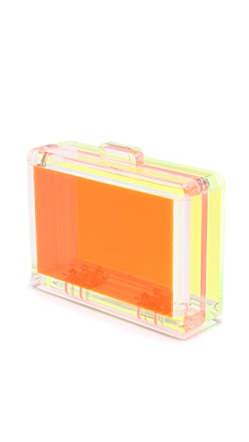 CC SKYE Bright Love Lucite Clutch