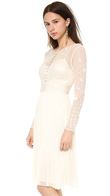 Catherine Deane Tian Embroidered Bodice Dress