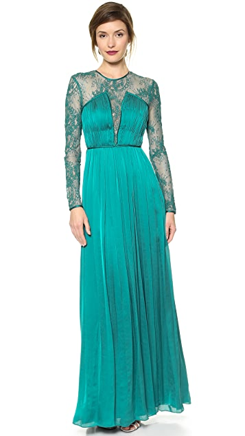 Catherine Deane Venice Lace & Gathered Gown