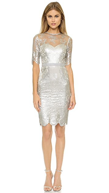 Catherine Deane Cali Metallic Lace Dress
