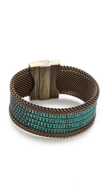 Cynthia Desser Narrow Lizard Reversible Cuff