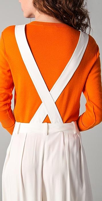 Derek Lam 10 Crosby Pleated Trousers with Suspenders