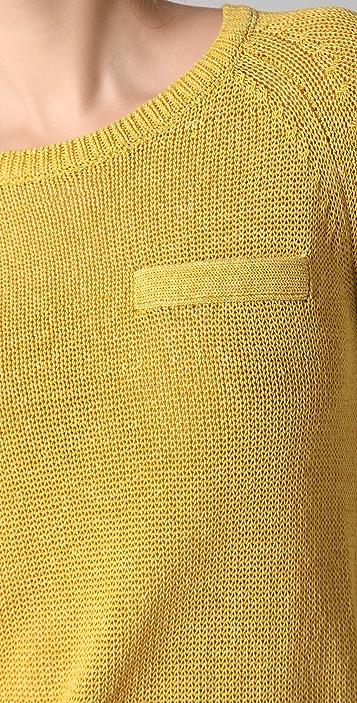 Derek Lam 10 Crosby Long Sleeve Crew Neck Sweater