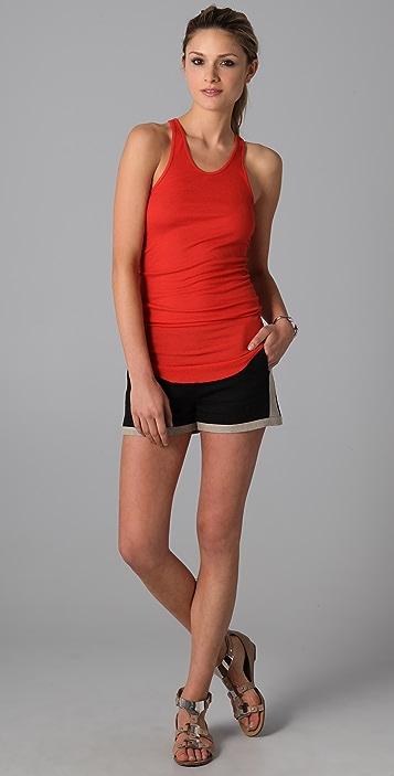 Derek Lam 10 Crosby Side Zip Shorts