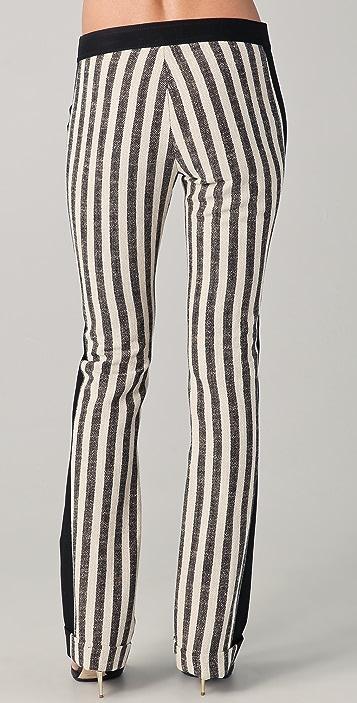 Derek Lam 10 Crosby Straight Leg Cuffed Combo Pants
