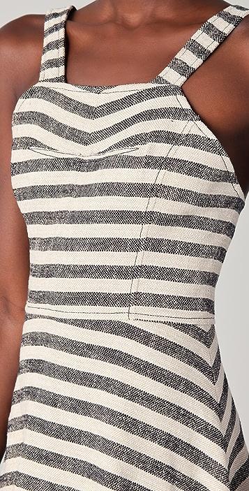 Derek Lam 10 Crosby Striped Midi Circle Dress