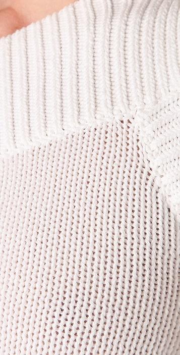 Derek Lam 10 Crosby One Shoulder Knit Top