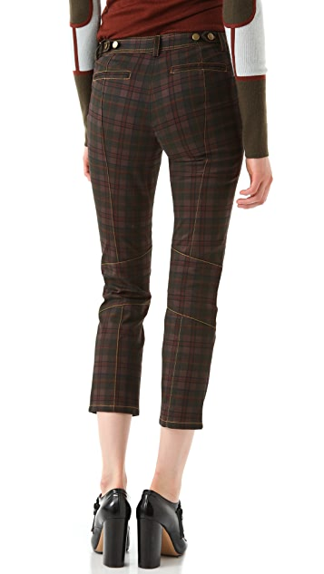 Derek Lam 10 Crosby Sanded Plaid Pants