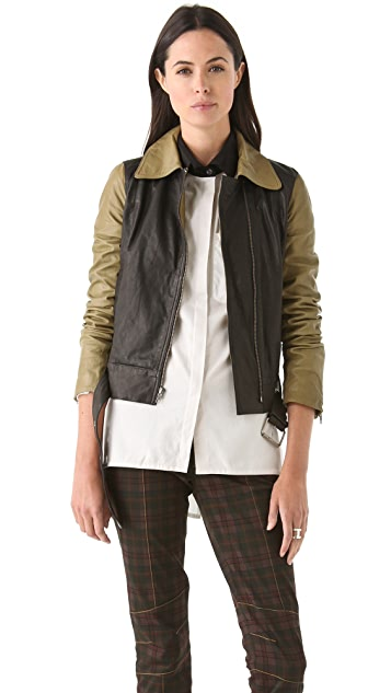 Derek Lam 10 Crosby Combo Leather Jacket