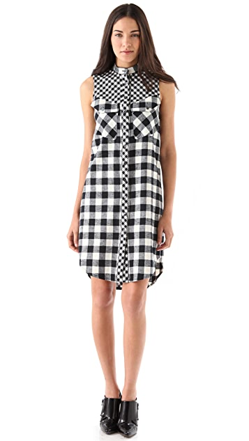 Derek Lam 10 Crosby Flannel Sleeveless Dress