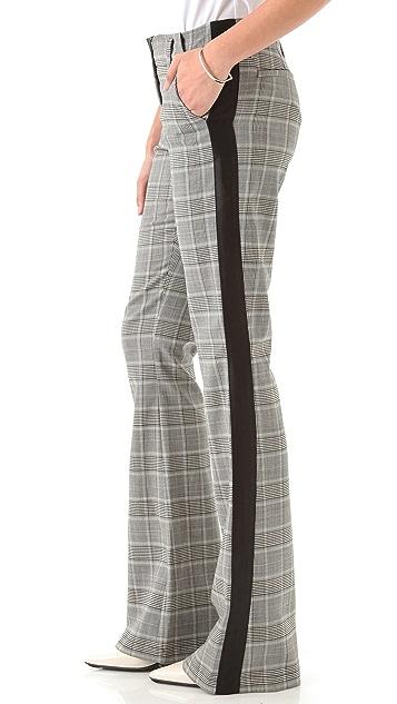 Derek Lam 10 Crosby Houndstooth Tuxedo Pants
