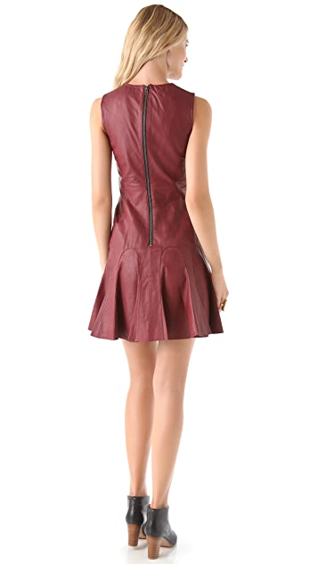 Derek Lam 10 Crosby Leather Tulip Dress