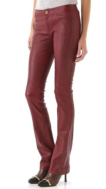 Derek Lam 10 Crosby Leather Bootleg Pants