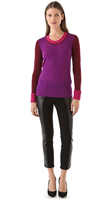 Derek Lam 10 Crosby Colorblock U Sweater