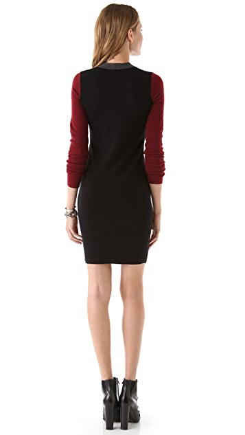 Derek Lam 10 Crosby Colorblock Sweater Dress