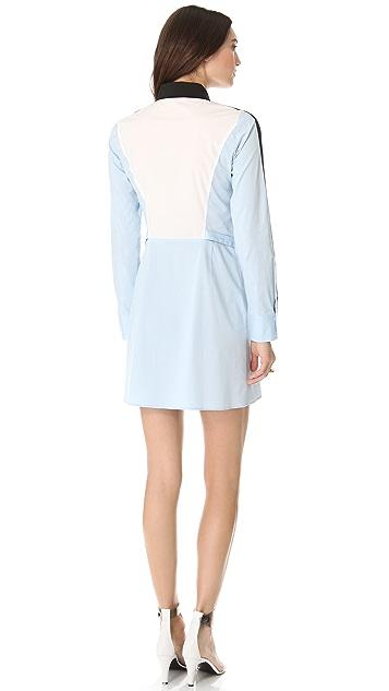 Derek Lam 10 Crosby Colorblock Shirtdress