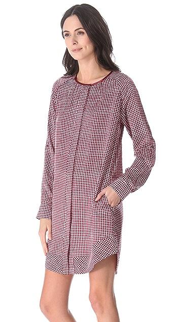 Derek Lam 10 Crosby Square Print Tunic Dress