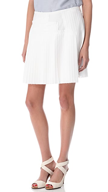Derek Lam 10 Crosby Poplin Pleated Skirt