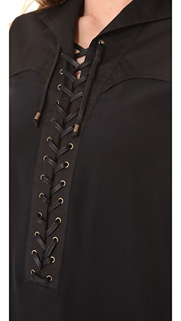 Derek Lam 10 Crosby Lace Up Sleeveless Dress