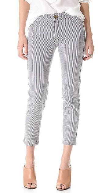 Derek Lam 10 Crosby Cropped Stripe Jeans