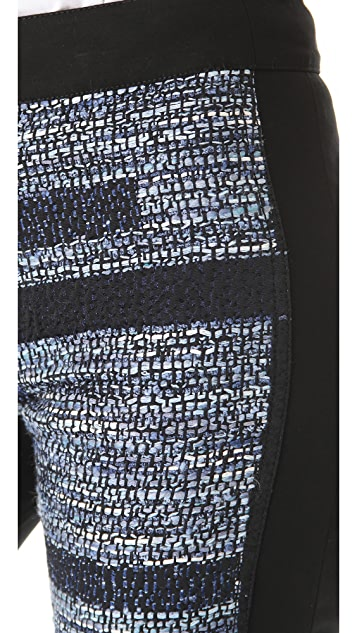 Derek Lam 10 Crosby Box Jacquard Combo Pants