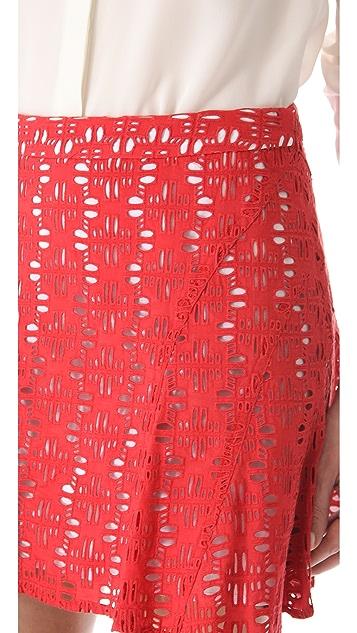 Derek Lam 10 Crosby Eyelet Tulip Skirt