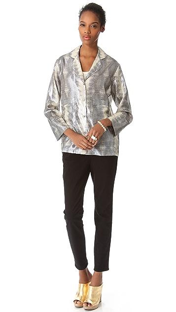 Derek Lam 10 Crosby Lizard Pajama Shirt