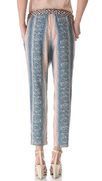 Derek Lam 10 Crosby Lizard Print Slouchy Trousers