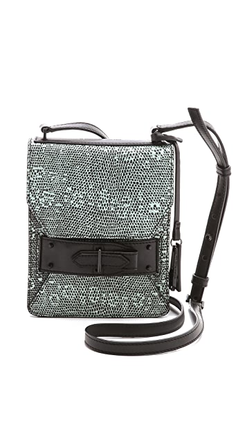 Derek Lam 10 Crosby Lizard Folio Cross Body Bag