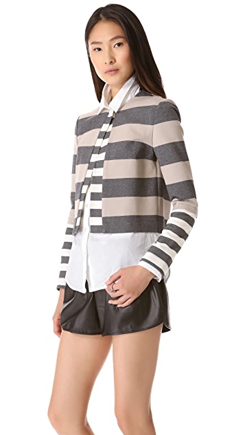 Derek Lam 10 Crosby Striped Cardigan Jacket