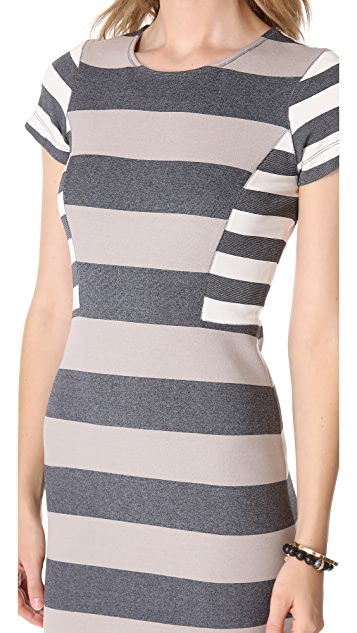 Derek Lam 10 Crosby Short Sleeve Striped Dress