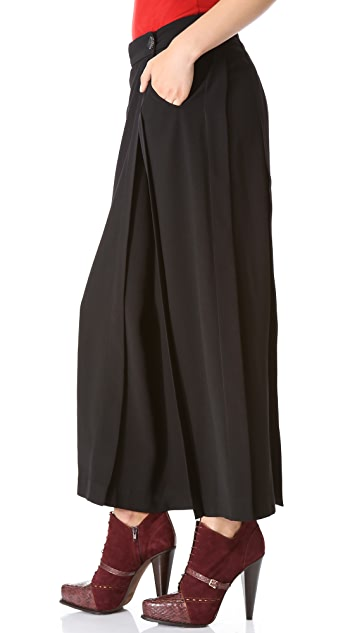 Derek Lam 10 Crosby Pleated Wide Leg Pants