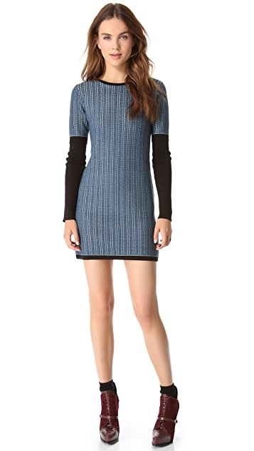 Derek Lam 10 Crosby Cable Knit Dress