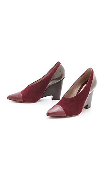 Derek Lam 10 Crosby Ynez Choked Wedge Pumps