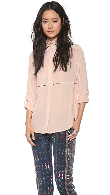 Derek Lam 10 Crosby Double Collar Blouse