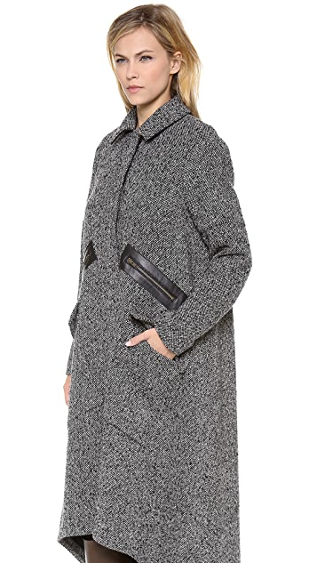 Derek Lam 10 Crosby Tweed Cape Coat