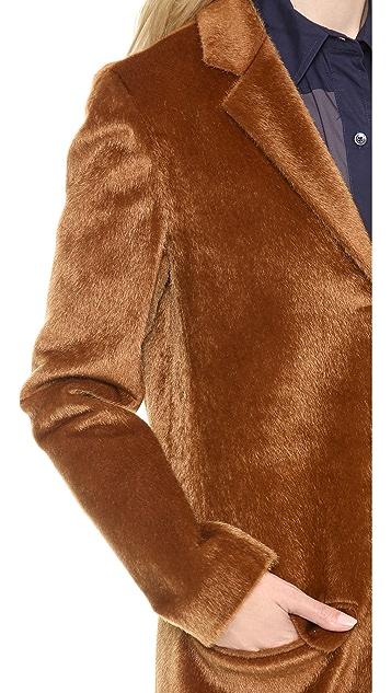 Derek Lam 10 Crosby Faux Haircalf Coat