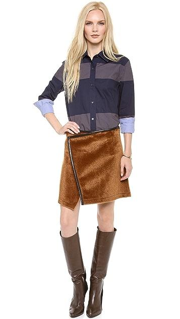 Derek Lam 10 Crosby Imitation Ponyhair Skirt