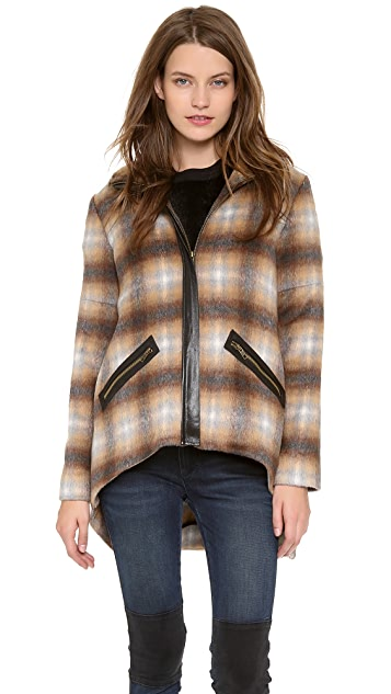 Derek Lam 10 Crosby Plaid Jacket with Back Tail