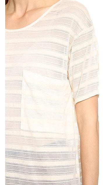 Derek Lam 10 Crosby Sheet Stripe Jersey Tee