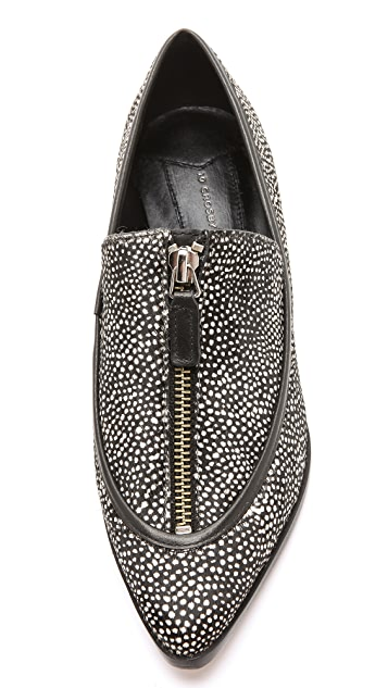 Derek Lam 10 Crosby Arty Haircalf Zip Flats